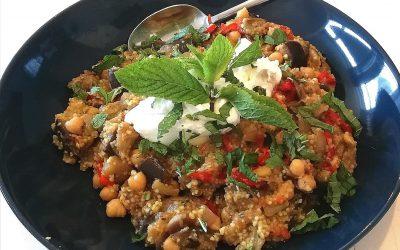 Vegetarische couscous schotel